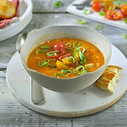 Tomato and vegetable soup